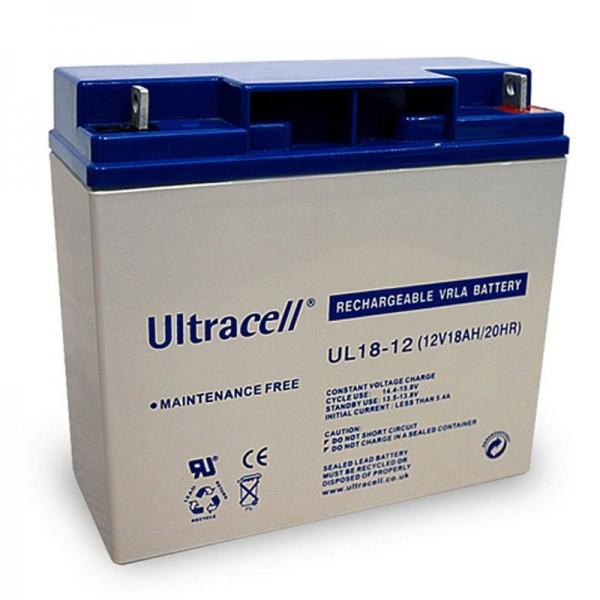 UL18-12 Ultracell Blei-Akku 12 Volt, 18Ah mit M5 Gewinde