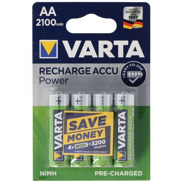 VARTA Ready2use Akku Mignon/AA 56706 4er Pack 2100mAh