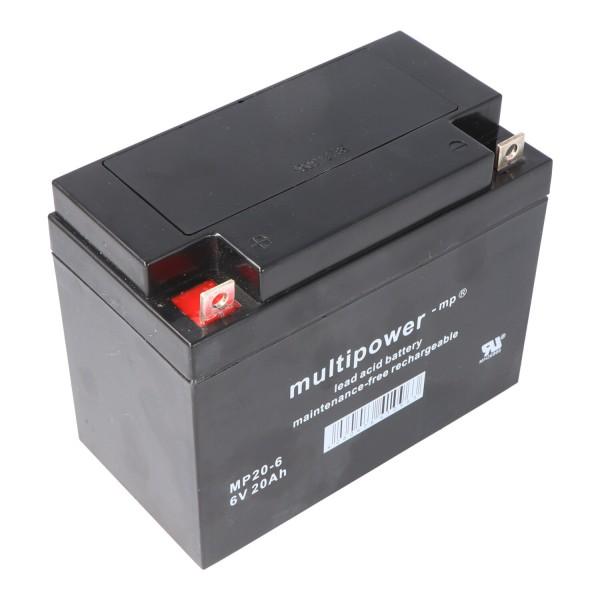 Multipower MP20-6 Akku PB Blei, 6 Volt mit 20Ah, 2000mAh