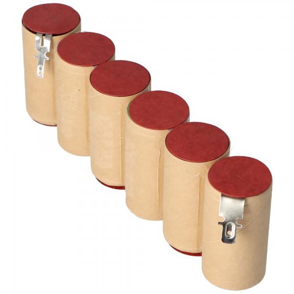 NiMH Akku passend für Gardena ACCU 90, ACCU90 mit Faston 4,8 und 2,8mm