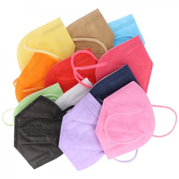 12er Pack FFP2 Masken Bunt für Frauen 5-Lagig, zertifiziert nach DIN EN149:2001+A1:2009, partikelfiltrierende Halbmaske, FFP2 Schutzmaske