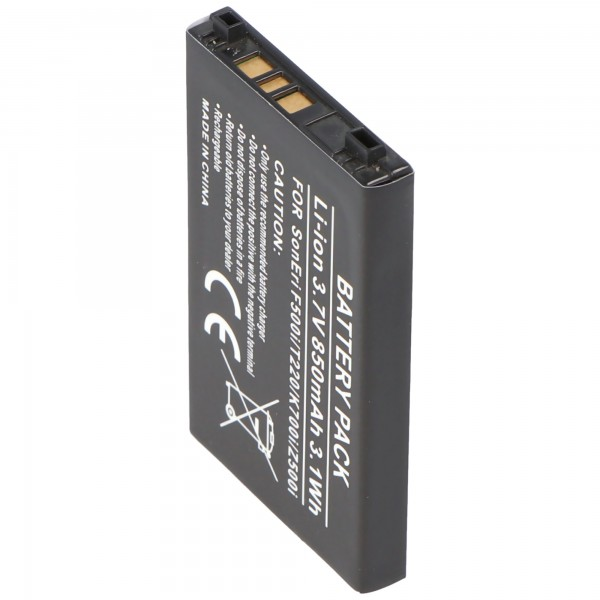 AccuCell battery for Sony Ericsson J200i, T230, T226, K500