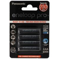Panasonic eneloop Pro Micro 1,2V AAA LR03 BK-4HCCE/4BE Akku und AccuCell Akkubox AAA