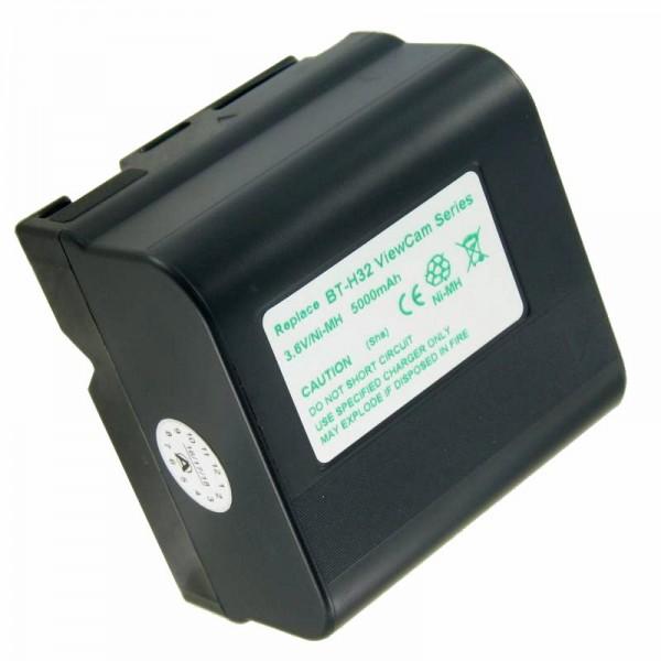AccuCell Akku passend für Sharp BT-H22, BT-H32U, BT-H22U, BT-H21, BT-H32, 5000mAh