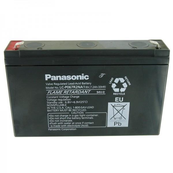 Panasonic LC-P067R2NA1 Bleiakku mit 6 Volt und 7200mAh, 6,3mm Faston