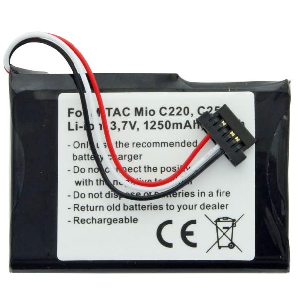 AccuCell Akku passend für Mitac Mio E4MT081202B12 Akku