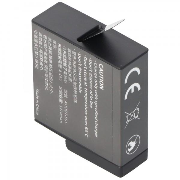 Akku passend für den GoPro Hero 5 Akku AABAT-001 Li-Ion 3,85 Volt
