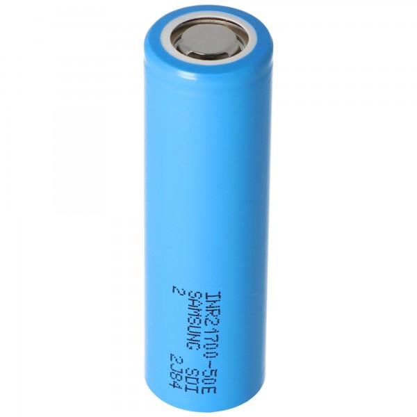 Samsung INR21700 50E 5000mAh max. 15A 3,6-3,7 Volt 21,25x70,8mm