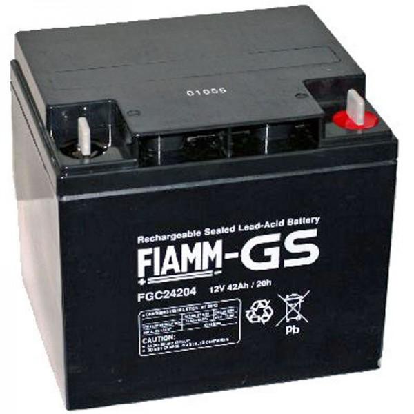 Fiamm FGC24207 Akku mit M6 Schraubanschluss 12Volt 42Ah