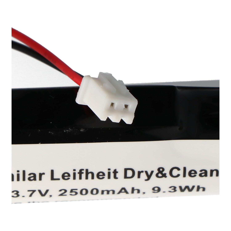 2500 mAh Batteria per Leifheit Dry/&Clean 51000 9,3 Wh 3,7 V AccuCell Li-ion