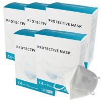100 Stück Premium FFP2 Maske latexfrei 7-Lagig ohne Ventil, Großpackung, zertifiziert nach DIN EN149:2001+A1:2009, partikelfiltrierende Halbmaske, FFP2...