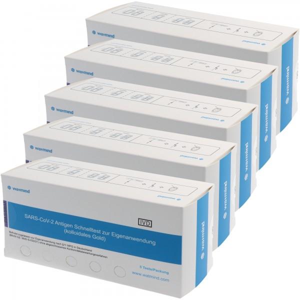 25 Watmind Lolli-Test COVID-19 Laientest (Speicheltest) mit BfArM-Sonderzulassung, Coronavirus (SARS-Cov-2) Antigen Schnelltest, kein PCR