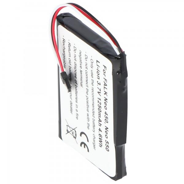 Akku passend für den FALK Neo 450 Akku Neo 550 mit 3,7V und 1250mAh