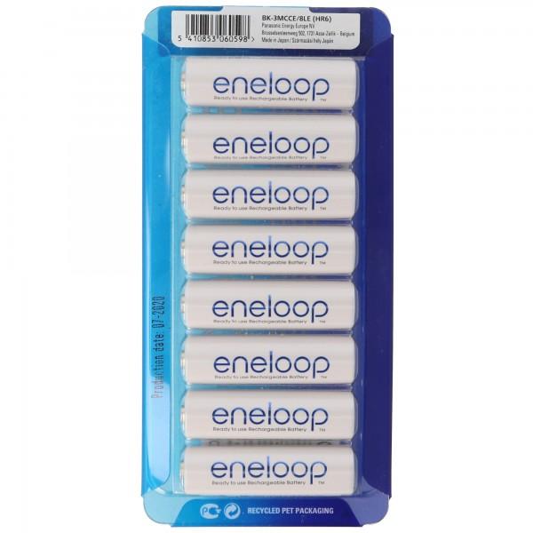 Panasonic eneloop Standard ehem. Sanyo eneloop Standard Mignon AA HR-3UTGA min. 1900mAh 8er Pack und Akkubox