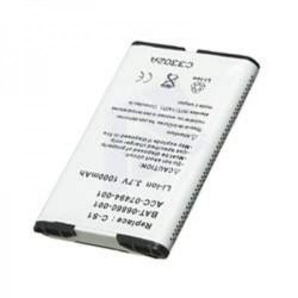 AccuCell Akku passend für RIM Blackberry 8703, 1000mAh