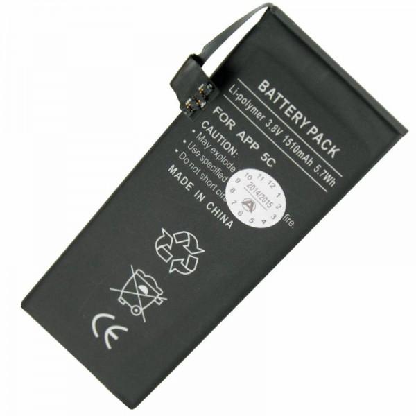 Akku passend für Apple iPhone 5C Li-Polymer 616-0667 Akku, 616-0720 Akku
