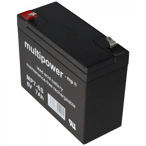Multipower MP7-6S, WP7-6S Akku Blei PB 6Volt 7Ah