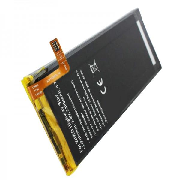 Akku passend für den Wiko Highway Star Akku, Highway Star 4G Dual SIM Akku TLP15016 Abmessungen ca. 112.10 x 41.70 x 3.20mm