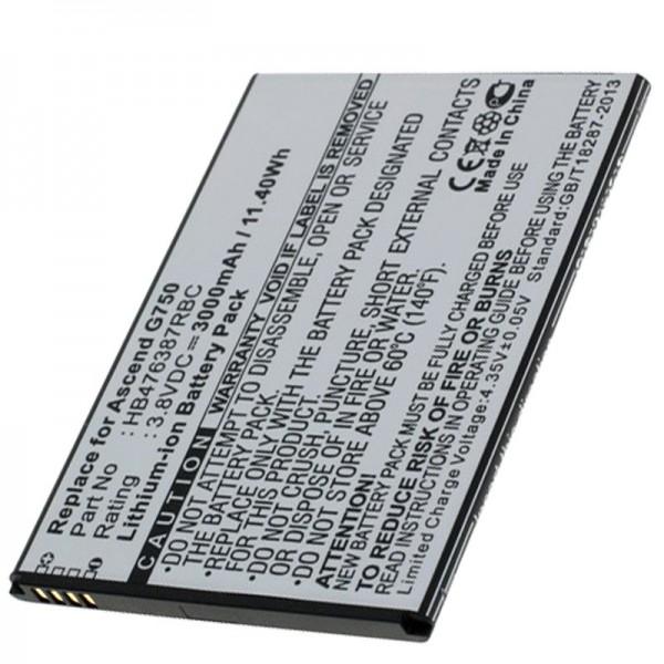 Akku passend für Huawei Ascend G750 Akku G750-T00, B199, Glory 4, Honor 3X