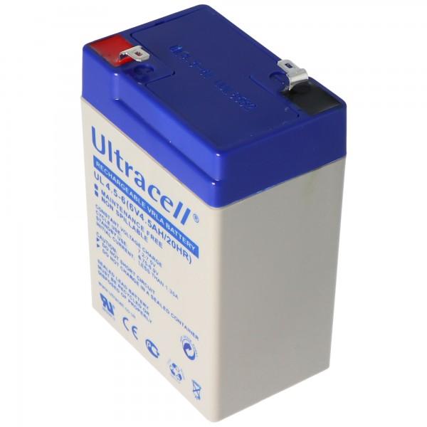 Ultracell UL 4.5-6 Blei Akku mit Faston 4,8mm Kontakten
