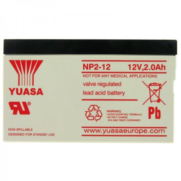 YUASA NP2-12 Akku Blei PB 12 Volt 2000mAh, nicht mehr lieferbar, dafür liefern wir einen baugleichen Akku