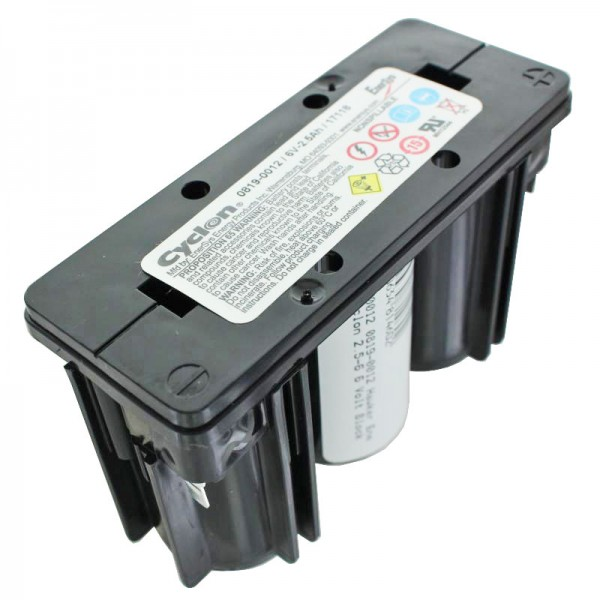 0819-0012 Hawker Energy Cyclon 2.5-6 6 Volt Block Akku 0819-1006 6V 2500mAh