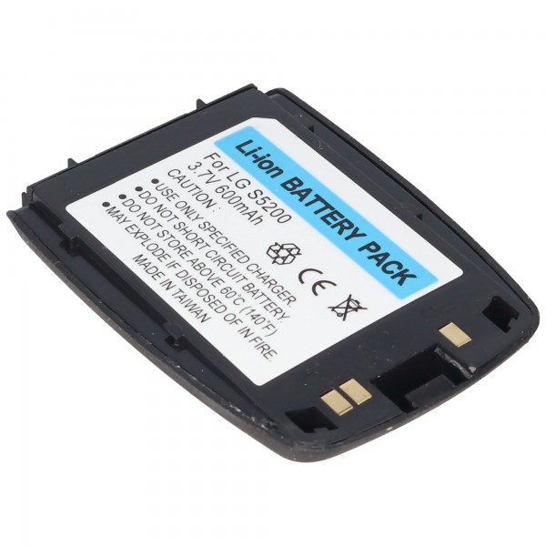AccuCell Akku passend für LG S5200, 600mAh mattschwarz