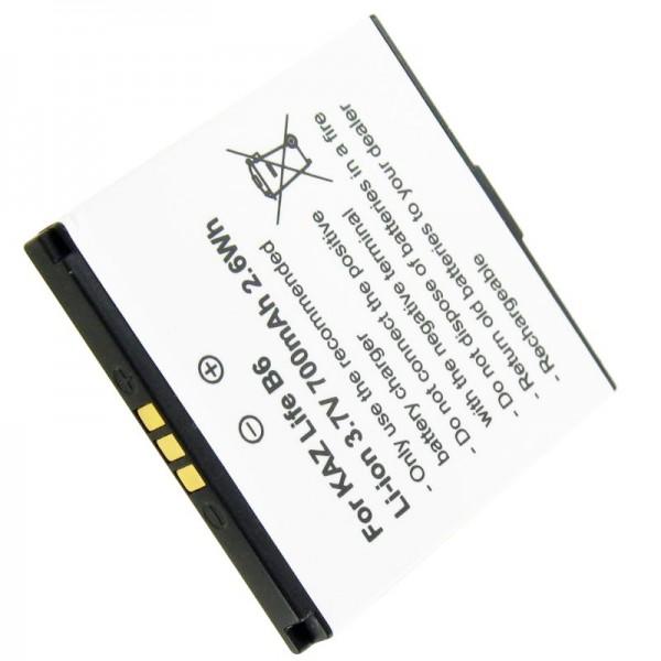 Akku passend für Kazam Life B6, LFB6, LFB6-VKVBG013292, 3,7 Volt 700mAh