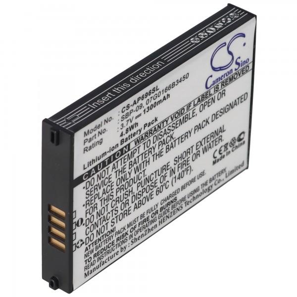 Akku passend für ASUS MyPal A626, SBP-09, 07G0166B3450