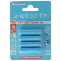 4 Stück Panasonic eneloop Lite Micro AAA LR03 Akku BK-4LCCE/4BE NiMH 1,2V 600mAh Akku für DECT Telefon