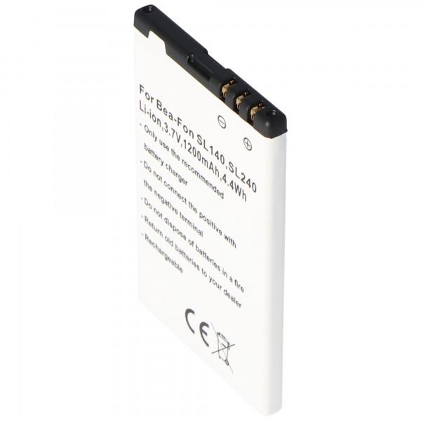Akku passend für den Handy Akku Bea-Fon SL140, SL240 Akku SL140