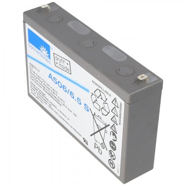 Sonnenschein Dryfit A506/6.5S Blei Akku, Anschluss 4,8mm Faston Steckkontakte