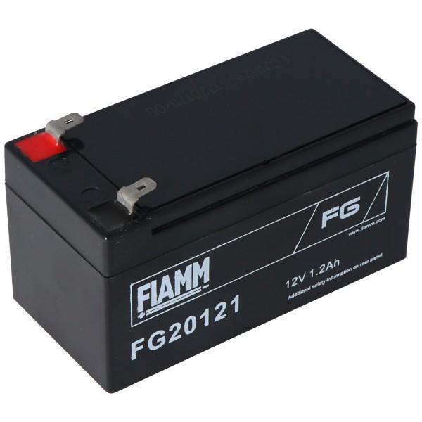 Fiamm FG20121 Akku 1200mAh Blei Akku 12 Volt mit 1200mAh, 2mal 4,8mm Steckkontakte
