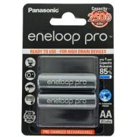Panasonic eneloop Pro Mignon Akku BK-3HCDE/2BE NiMH 1,2Volt max. 2550mAh, 2er Blisterkarte