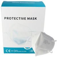 20 Stück Premium FFP2 Maske latexfrei 7-Lagig ohne Ventil, Vorratspack, zertifiziert nach DIN EN149:2001+A1:2009, partikelfiltrierende Halbmaske, FFP2...