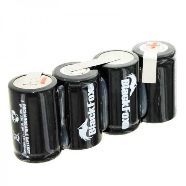 Akkupack bestehend aus 4x 2/3A 1600mAh Zellen mit Kabel, ohne Stecker