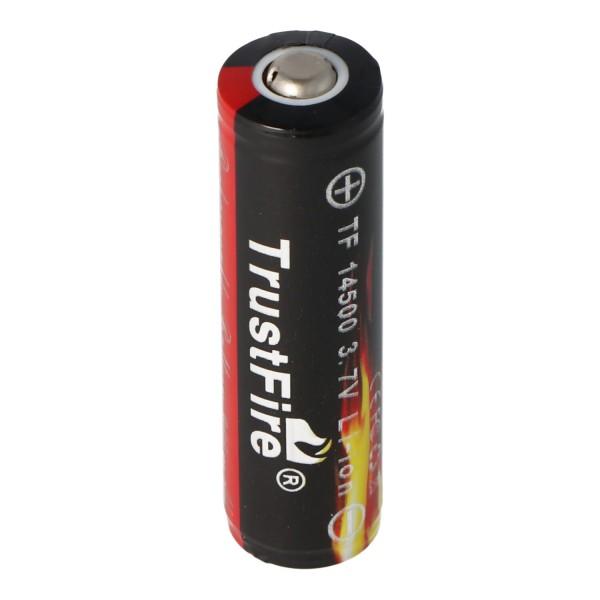 Trustfire 14500 900mAh 3,7V geschützte Li-Ion-Zelle Abmessungen 50,395x14,15mm